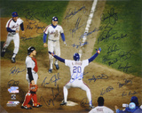 1986 New York Mets - Johnson At Home Plate Team Signed Autographed Photo (Hand Signed Collectable) Photo