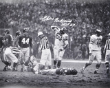 Chuck Bednarik Philadelphia Eagles  with &quot;HOF 67&quot; Inscription Photo