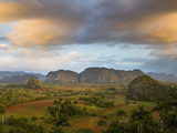 Vinales Valley From Grounds of Hotel Los Jasmines Showing Limestone Hills Known As Mogotes, Cuba Photographic Print by Lee Frost