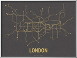 London (Dark Gray & Mustard) Posters by  Line Posters