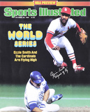 Ozzie Smith St. Louis Cardinals - Sports Illustrated Cover with Wizard of Oz Inscription Photo