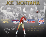 Joe Montana San Francisco 49ers  4x SB Stats Photo