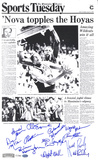 Villanova Wildcats 1985 Philadelphia Enquirer B&W Team Autographed Photo (Hand Signed Collectable) Photo