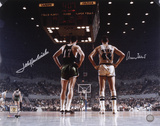 Jerry West and John Havlicek Dual Autographed Photo (Hand Signed Collectable) Photo
