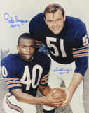 Dick Butkus and Gale Sayers Chicago Bears  with &#39;&#39;HOF 77 &amp; 79&#39;&#39; Inscriptions Photo
