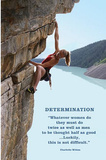 Determination (Rock Climbing) Poster