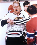 Bobby Hull Chicago Blackhawks with The Golden Jet  Autographed Photo (Hand Signed Collectable) Photo