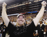 Bill Cowher PittsburgSteelers - Hands In Air Autographed Photo (Hand Signed Collectable) Photo