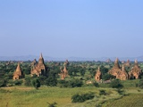 Buddhist Temples, Bagan (Pagan) Archaeological Site, Myanmar (Burma), Asia Photographic Print by Sergio Pitamitz