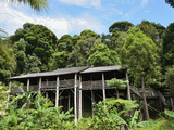 Traditional House, Sarawak Cultural Village, Sarawak, Borneo, Malaysia, Southeast Asia, Asia Photographie par Jochen Schlenker