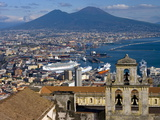 Cityscape With Certosa Di San Martino and Mount Vesuvius Naples, Campania, Italy, Europe Photographic Print by Charles Bowman