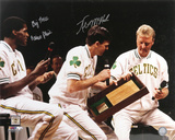 Kevin McHale and Robert Parish Boston Celtics  Big Three Inscription Photo