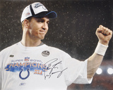 Peyton Manning Indianapolis Colts SB XLI Celebration Autographed Photo (H& Signed Collectable) Photo