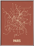 Paris (Brick Red & Tan) Art by  Line Posters