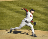 Curt Schilling Boston Red Sox - On the Mound Autographed Photo (Hand Signed Collectable) Photographie