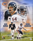Dick Butkus (HOF 79 inscription) and Brian Urlacher Chicago Bears - Collage - Dual Photo