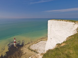 Beachy Head Lighthouse, White Chalk Cliffs and English Channel, East Sussex, England, Uk Photographic Print by Neale Clarke