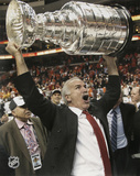 Joel Quenneville Chicago Blackhawks 2010 Stanley Cup  with 2010 Champs Inscription Photo