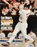 Eddie Murray Baltimore Orioles 500th Home Run Autographed Photo (Hand Signed Collectable) Photo