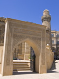Entrance of the Lezgi Mosque in the Old Town of Baku, UNESCO World Heritage Site, Azerbaijan Photographic Print by Michael Runkel