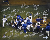 1986 New York Mets - Celebration On Mound -  Team Signed Photo