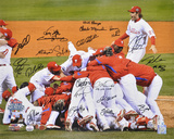 Philadelphia Phillies 2008 World Series Team Signed -  Celebration Photographie
