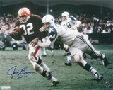 Jim Brown Cleveland Browns with HOF 71 Inscription Autographed Photo (Hand Signed Collectable) Photographie