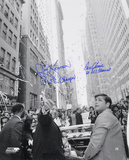 "Tom Seaver & Jerry Koosman New York Mets  Parade with Inscription ""69 WS CHAMPS"" Foto"