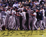 Boston Red Sox 2007 World Series Celebration Team Signed with 22 Signatures Photo