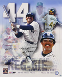 Reggie Jackson - Collage with Four Inscriptions Autographed Photo (Hand Signed Collectable) Photo