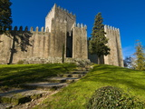 The Castle of Guimaraes, UNESCO World Heritage Site, Guimaraes, Portugal, Europe Photographic Print by Michael Runkel