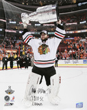 Antti Niemi Chicago Blackhawks   with &#39;10 SC Champs Inscription Photo