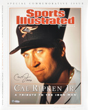 Cal Ripken Jr. Baltimore Orioles - Sports Illustrated Cover with 2632 Inscription Photo