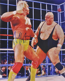 Hulk Hogan - WWE - vs. King Kong Bundy WWE Autographed Photo (Hand Signed Collectable) Photo