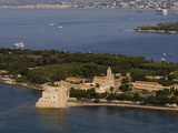 View From Helicopter of Lerins Abbey, Ile Saint-Honorat, Iles De Lerins, Provence, France Photographic Print by Sergio Pitamitz