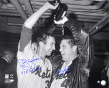 "Tom Seaver & Jerry Koosman New York Mets  Champagne with Inscription ""69 WS CHAMPS"" Foto"