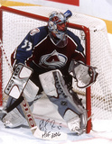 Patrick Roy with Hall Of Fame 2006 Inscription Autographed Photo (Hand Signed Collectable) Photo