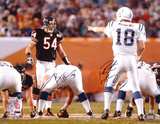 Peyton Manning and Brian Urlacher Super Bowl XLI Action Autographed Photo (Hand Signed Collectable) Photo