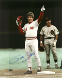 Pete Rose Cincinnati Reds  with 4192 Inscription Photo