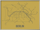 Berlin (Ochre &amp; Gunmetal Gray) Posters by  Line Posters