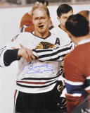 Bobby Hull Chicago Blackhawks  with The Golden Jet Inscription Photo