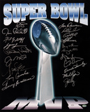 Vince Lombardi Super Bowl Trophy  - 20 MVP Signatures Photo