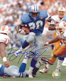 Barry Sanders Detroit Lions Blue Home Jersey Autographed Photo (Hand Signed Collectable) Photo