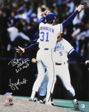 George Brett and Bret Saberhagen Kansas City Royals - World Series Action with WS MVP Inscription Photo