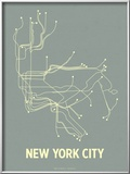 New York City (Steel Blue &amp; Yellow) Prints by  Line Posters