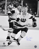 Gordie Howe Hartford Whalers with Mr. Hockey  Autographed Photo (Hand Signed Collectable) Photo