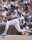 Andre Dawson Chicago Cubs  with HOF 2010 Inscription Photo