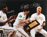 Larry Bird - Robert Parish and Kevin McHale Boston Celtics - Retirement Night Photo