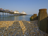 Eastbourne Pier, Beach and Groynes, Eastbourne, East Sussex, England, Uk Photographic Print by Neale Clarke