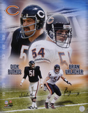 Dick Butkus and Brian Urlacher Chicago Bears Autographed Photo (Hand Signed Collectable) Photo